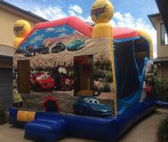 Details about Cars Jumping Castle Combo Ninja Jump
