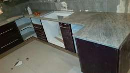 Granite and marble tops