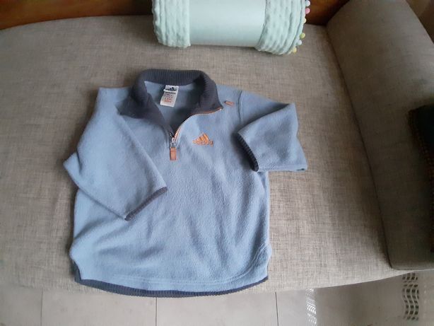 Bluza dziecięca Adidas polar 104 cm niebieska polarowa