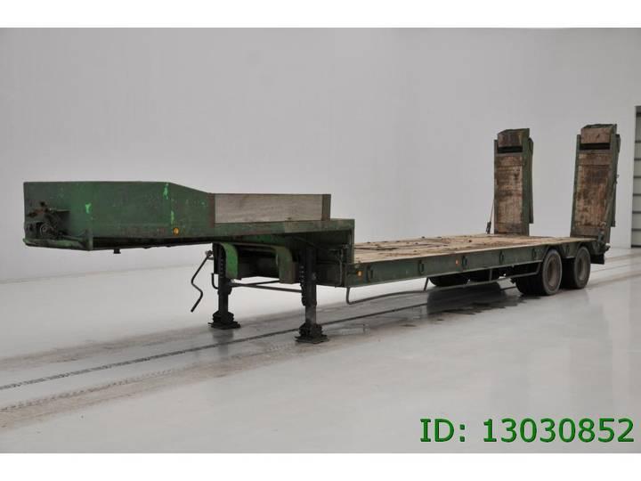 Robuste Kaiser Low bed trailer - spring suspension - 1985