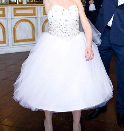 Krótka Suknia ślubna Rozm 3638 Chorzów Olxpl