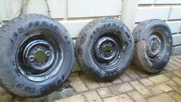 tyres and rims 145/80 R10 Trailer or Mini Motors