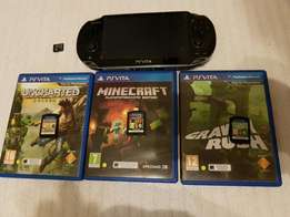 PS Vita with 3 Games