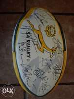 Signed rugby ball by 2007 Springboks team