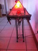 Native American CD Rack/Lamp including shade for sale!