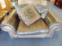 One Seater Leather Couch