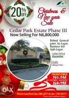 Instant allocation of land with good title in a built up area of Ajah