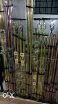 Curtain rods,plain curtains, printed and sheers
