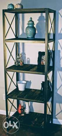 [ Contemporary furniture of industrial steel - bookcase/display racks]