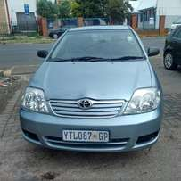 2004 Toyota corolla 1.4 in good condition for R55,000.00