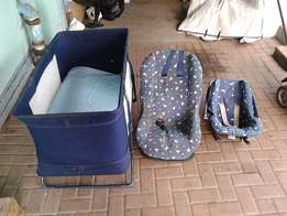 Price Negotiable-Baby cot and carrier
