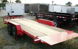 Three meters car trailers for transport or delivery services