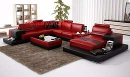 theCouchman : Designer lounge made in red bonded leather