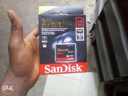 Compact flash (CF) card 64GB Card for video and still photograph