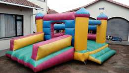 FOR SALE jumping castle 4m x 5m with slide, including blower