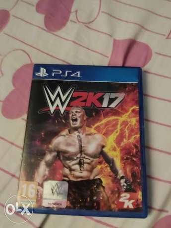 """WWE 2k17 """"PS4 game"""" used 1 time"""
