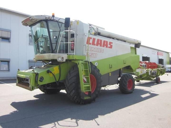 Claas lexion 450 mit sw c 600 ac u. sw-wagen - 2000