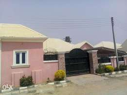 A three bedroom bungalow alone in a compound at SandyvilleEstate lugbe
