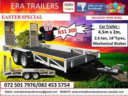 4.5m car trailer for sale sabs approved