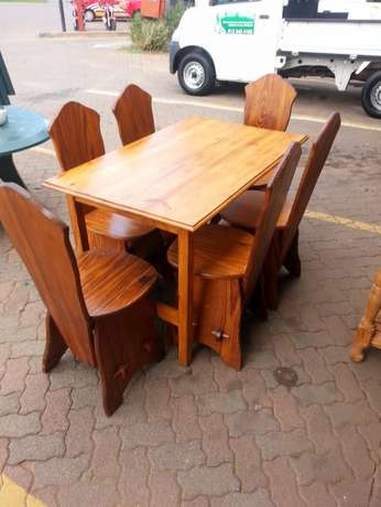 Wooden dining table with 6 wooden chairs for sale Pretoria - image 1