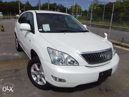 Toyota Harrier pearl white colour 2010 model with back power door