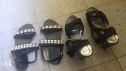 New flat sandal and old wage