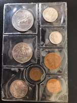 Uncirculated SA Coin packs from the 1970's