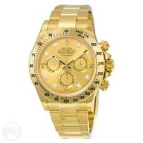 Rolex Gold Daytona Cosmography Oyster Perpetual Automatic Watch