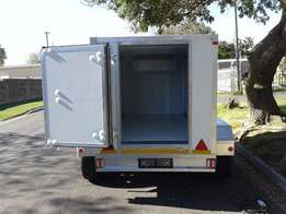 Single and double axles mobile freezers trailers