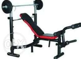 Brand new imported American fitness weight bench with 50kg dumbbell pa