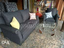 Grey 5 seater couch
