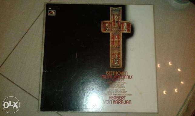 Beethoven Missa Solemnis EMI 2-LP Vinyl Record box set