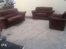 New chocolate 3 piece lounge suite