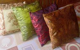 Beautiful throw pillows with embroidery, sequence, leopard design