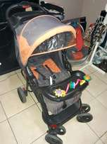 Graco Car Seat, Chelino Pram, Cumfibaby Camping cot, another pram and