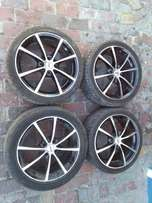 "17""inc rims up for grabs new tyres"