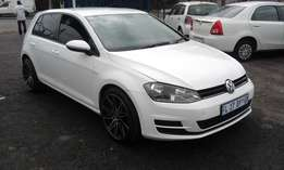 VW Golf 7 TSI 1.6 5 Doors Model 2013 Colour White Factory A/C&MP3 Play