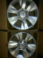 "17"" Toyota Hillux wheels (4) with centre caps good as new."