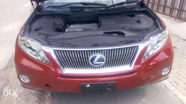 Red colour 2010 model Lexus RX 450h KCP number Mombasa Island - image 4