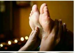 Head and foot massage therapy
