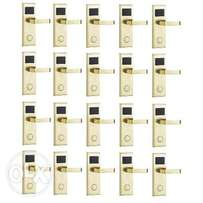 Door Lock With RFID Card Access Control - Gold - 20 Set