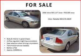 2006 Volvo S60 2.0 T Auto - FOR SALE