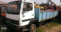 Company used 814 Mercedes Benz six tyres truck with half sided body
