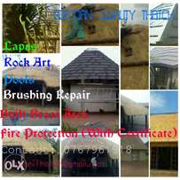 Thatch repairs roofs