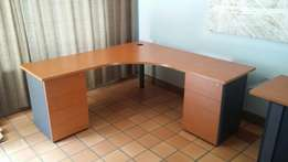 Cherrywood finish office desks