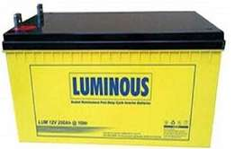 Luminous 200ah inverter and solar battery