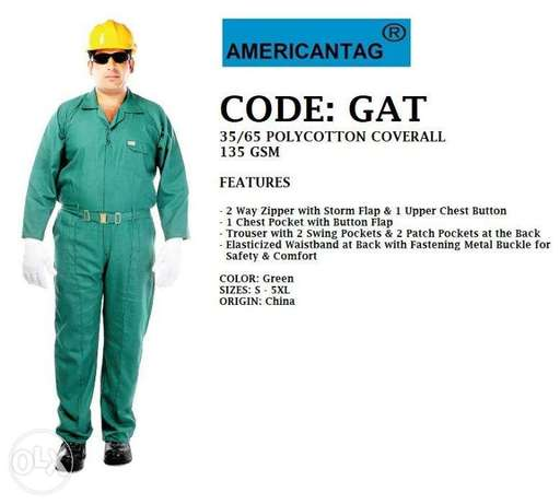 CoDe:gAt,AMeRican TaG-35/65 poLYcOTTon cOVeRAll-135 Gsm