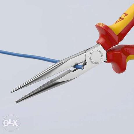 KNIPEX Snipe Nose Side Cutting Pliers (Stork Beak Pliers) 1000V-insula بيلا -  6