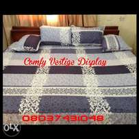 ENDEARING 7x7 bedsheet with 4 pillowcases