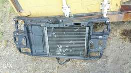 Vw polo front radiator panel with Fan